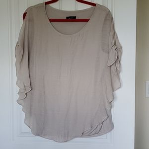 Tan blouse with built in tank top